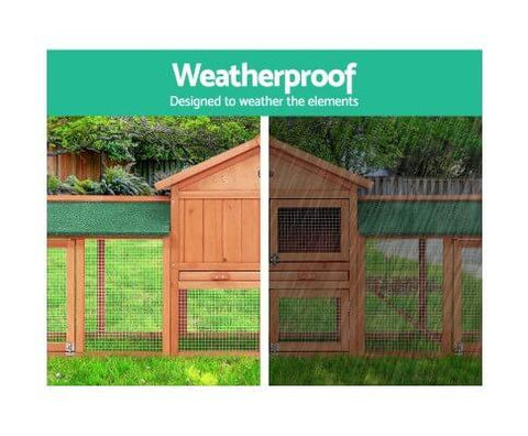 Image of Waterproof and Anti-termite Enclosed Rabbit Guinea Pig Chicken Play Area