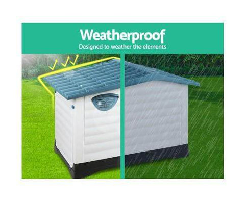 Image of Weatherproof UV-proof Outdoor Dog Kennel