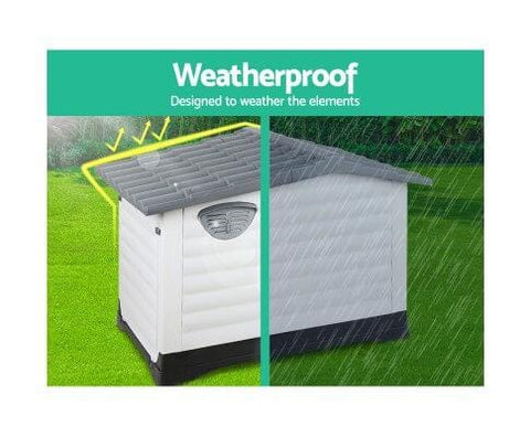 Image of Weatherproof and UV-Proof Dog Shelter Kennel