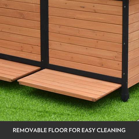 Wooden Dog Kennel with Removable Floor for Easy Cleaning