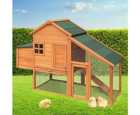 Image of Wooden Pet Hutch with Nesting Box