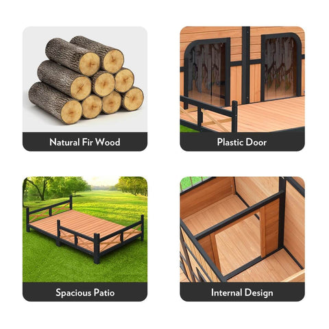 XXL Wooden Dog Kennel Product Details