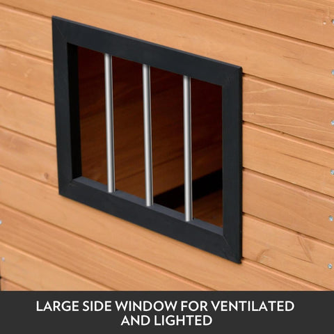XXL Wooden Dog with Large Size Window for Ventilation