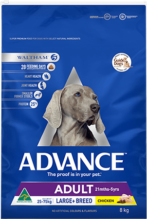 Advance Adult Dry Dog Food Large Breed Chicken 8kg Everyday Pets