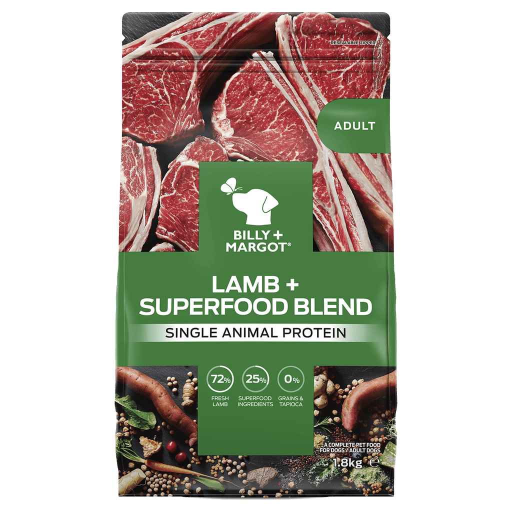 Billy + Margot Grain Free Superfood Blend Lamb Dog Food 1.8kg Everyday Pets