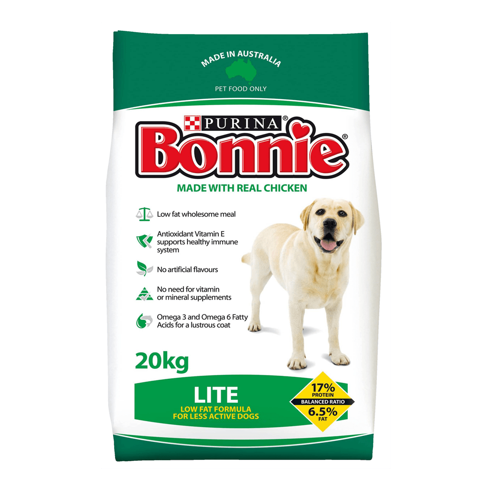 Purina Bonnie Adult Dog Dry Food Lite 20kg Everyday Pets