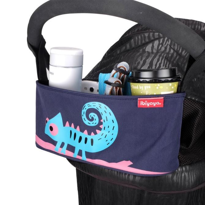 Convenient Stroller Organiser Animal Graphic Stroller Accessory Secure Velcro Storage Pram Organiser