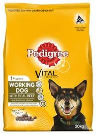 Pedigree Adult Dry Dog Food Working Dog 20kg Everyday Pets