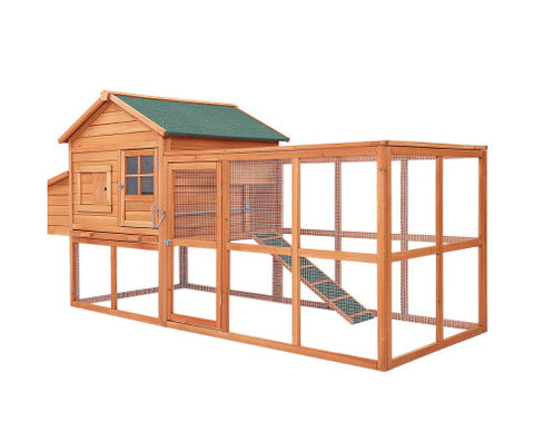 Image of i.Pet-Chicken-Coop-Coops-Wooden-Rabbit-Hutch-Hen-Chook-House-Ferret-Large-Run-XL-Everyday-Pets
