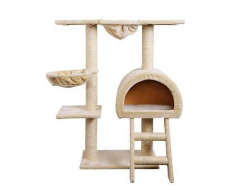 Image of i.Pet 100cm Multi Level Cat Scratching Post - Beige Everyday Pets