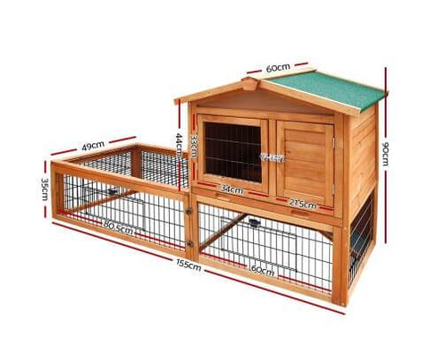 i.Pet 155cm Tall Wooden Pet Coop Dimensions