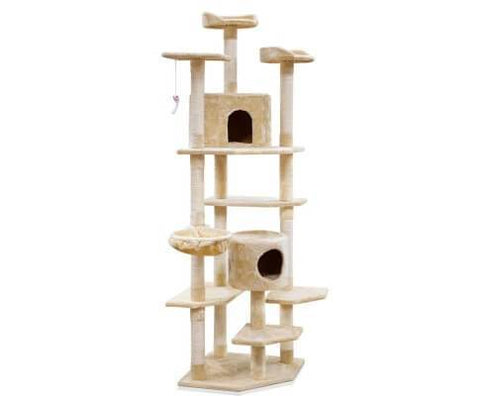 Image of i.Pet 203cm Cat Scratching Post - Beige Everyday Pets