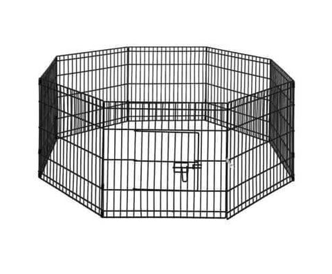 i.Pet 24 8 Panel Pet Dog Playpen Puppy Exercise Cage Enclosure Play Pen Fence Everyday Pets Dimensions