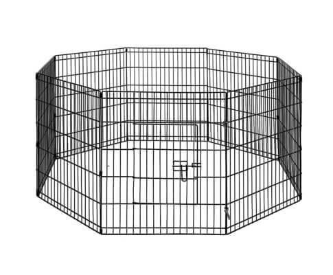 i.Pet 30 8 Panel Pet Dog Playpen Puppy Exercise Cage Enclosure Play Pen Fence Everyday Pets