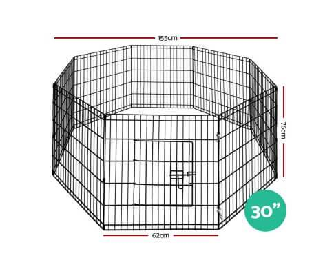 i.Pet 30 8 Panel Pet Dog Playpen Puppy Exercise Cage Enclosure Play Pen Fence Everyday Pets Dimensions