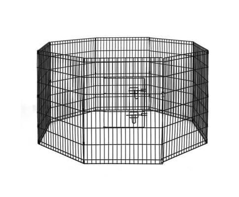 i.Pet 36 8 Panel Pet Dog Playpen Puppy Exercise Cage Enclosure Play Pen Fence Everyday Pets