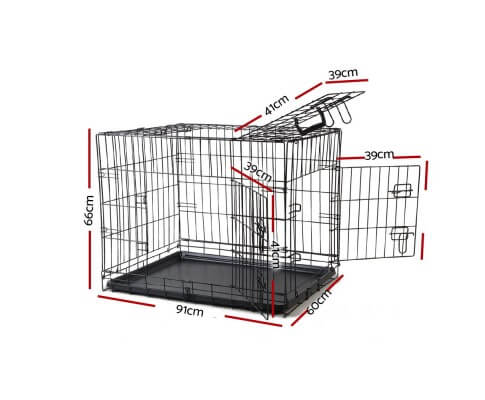i.Pet 36inch Collapsible Pet Cage Dimensions