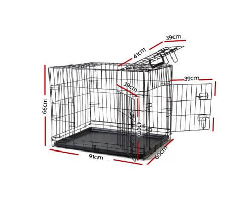 Image of i.Pet 36inch Collapsible Pet Cage Dimensions