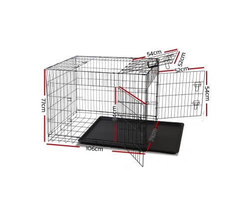 i.Pet 42inch Collapsible Pet Cage Dimensions