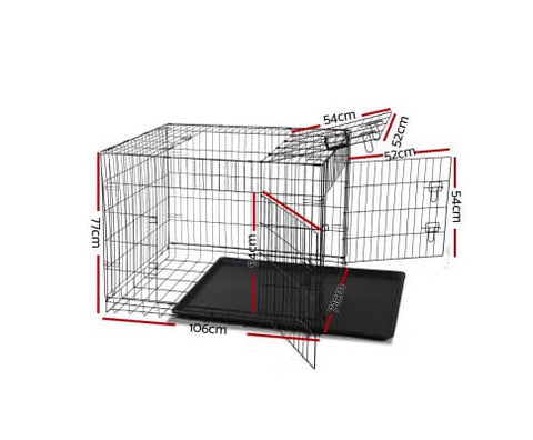 Image of i.Pet 42inch Collapsible Pet Cage Dimensions