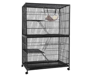 i.Pet 4 Level Pet Cage - Black Everyday Pets