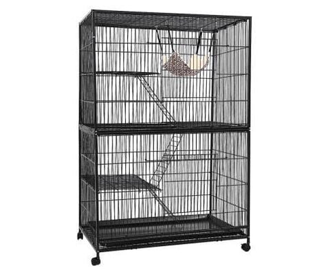 Image of i.Pet 4 Level Pet Cage - Black Everyday Pets