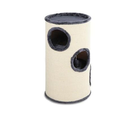 Image of i.Pet 70cm Cat Scratching Post - Grey & White Everyday Pets