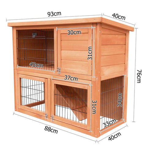 Image of i.Pet 93cm Tal Wooden Pet Coop Dimensions