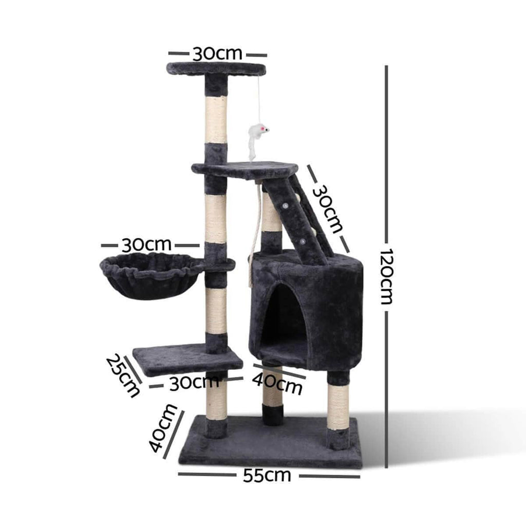 i.Pet Cat Tree 120cm Dimensions