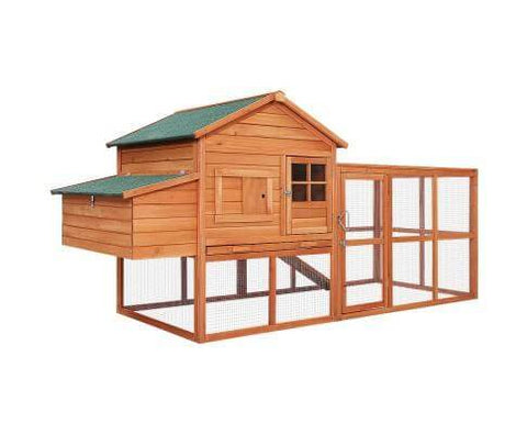 Image of i.Pet Chicken Coop Coops Wooden Rabbit Hutch Hen Chook House Ferret Large Run XL