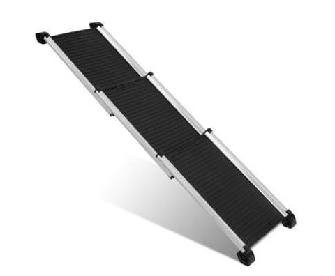 Image of i.Pet Deluxe Aluminium Foldable Pet Ramp - Black