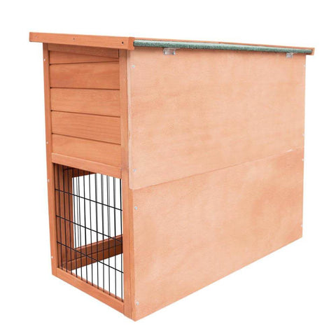 i.Pet Double Storey Rabbit Hutch Back View