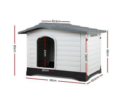 Image of i.Pet Extra Extra Large Pet Kennel - Grey Dimensions