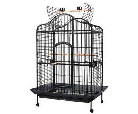 i.Pet Extra Large Bird Cage with Perch - Black Everyday Pets