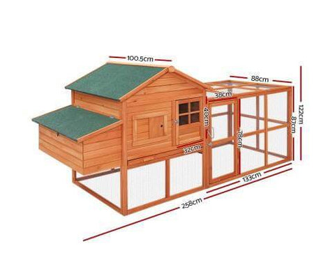 Image of i.Pet Extra Large Rabbit Hutch Chicken Coop Specification