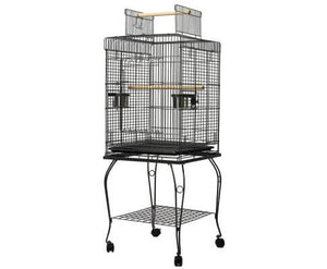 i.Pet Large Bird Cage With Perch - Black Everyday Pets