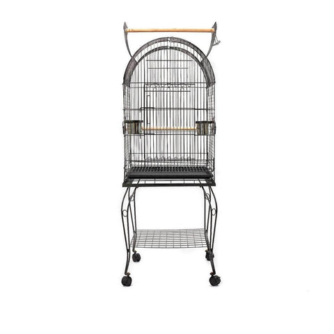 Image of i.Pet Large Bird Cage with Perch - Black Side View