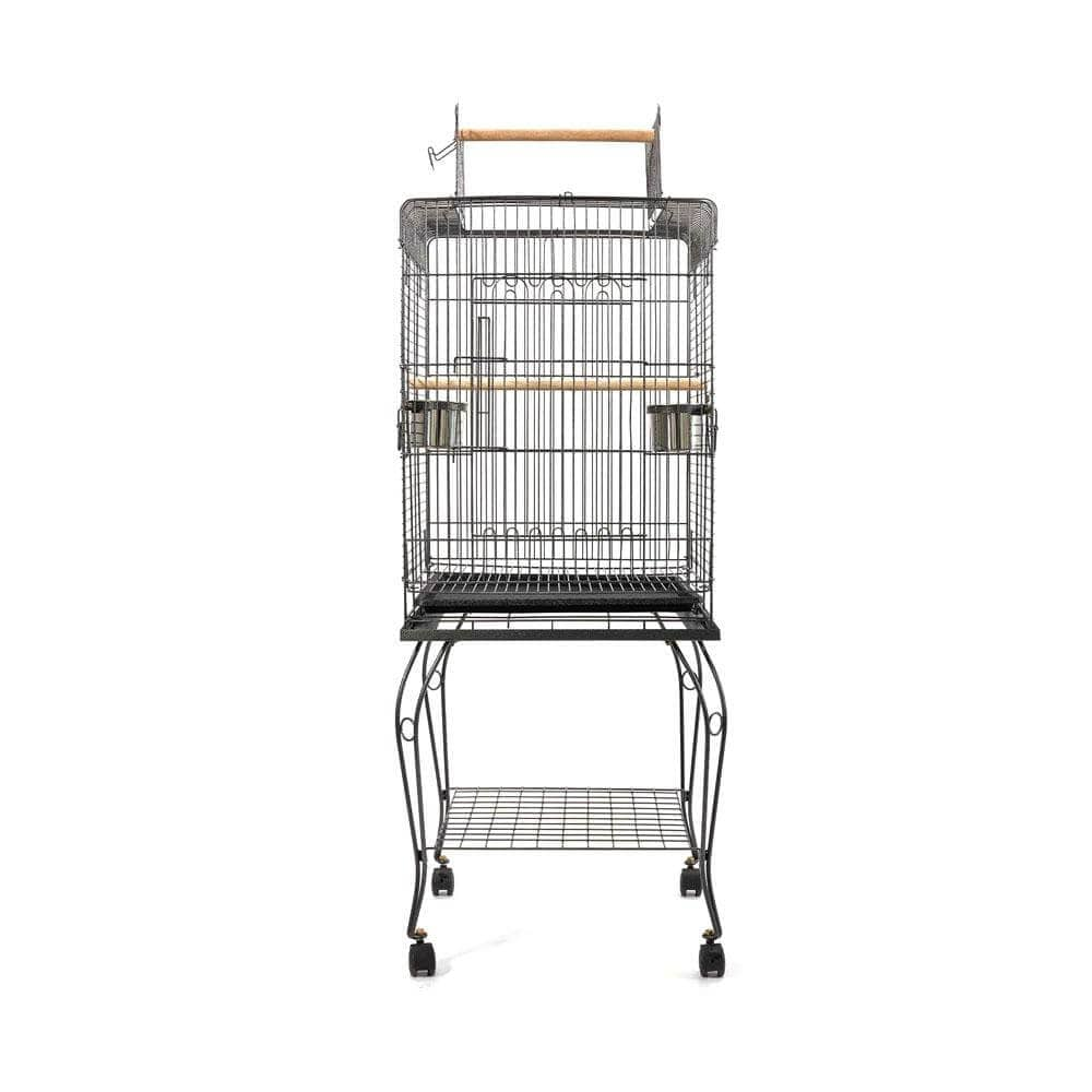 i.Pet Large Bird Cage with Perch Side View