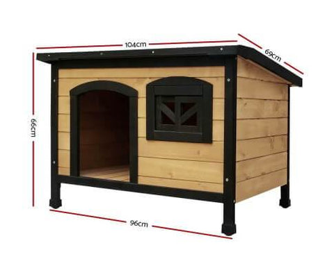 Image of i.Pet Large Wooden Pet Kennel Dimensions