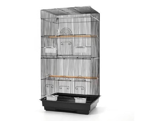 Image of i.Pet Medium Bird Cage with Perch - Black Everyday Pets