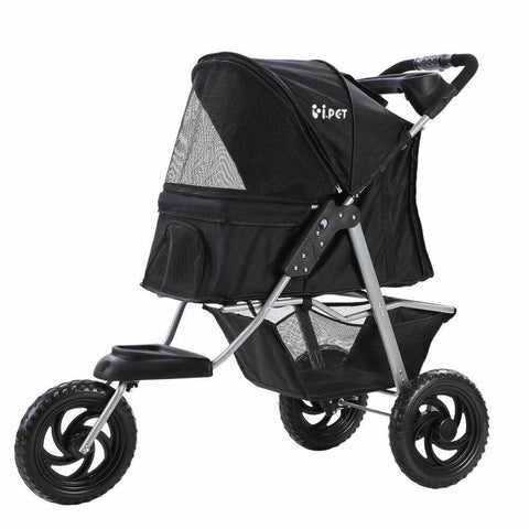 Image of i.Pet Pet Stroller Dog Carrier Foldable Pram Large Black Everyday Pets