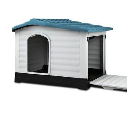 Image of i.Pet Weatherproof Pet Kennel - Blue Everyday Pets
