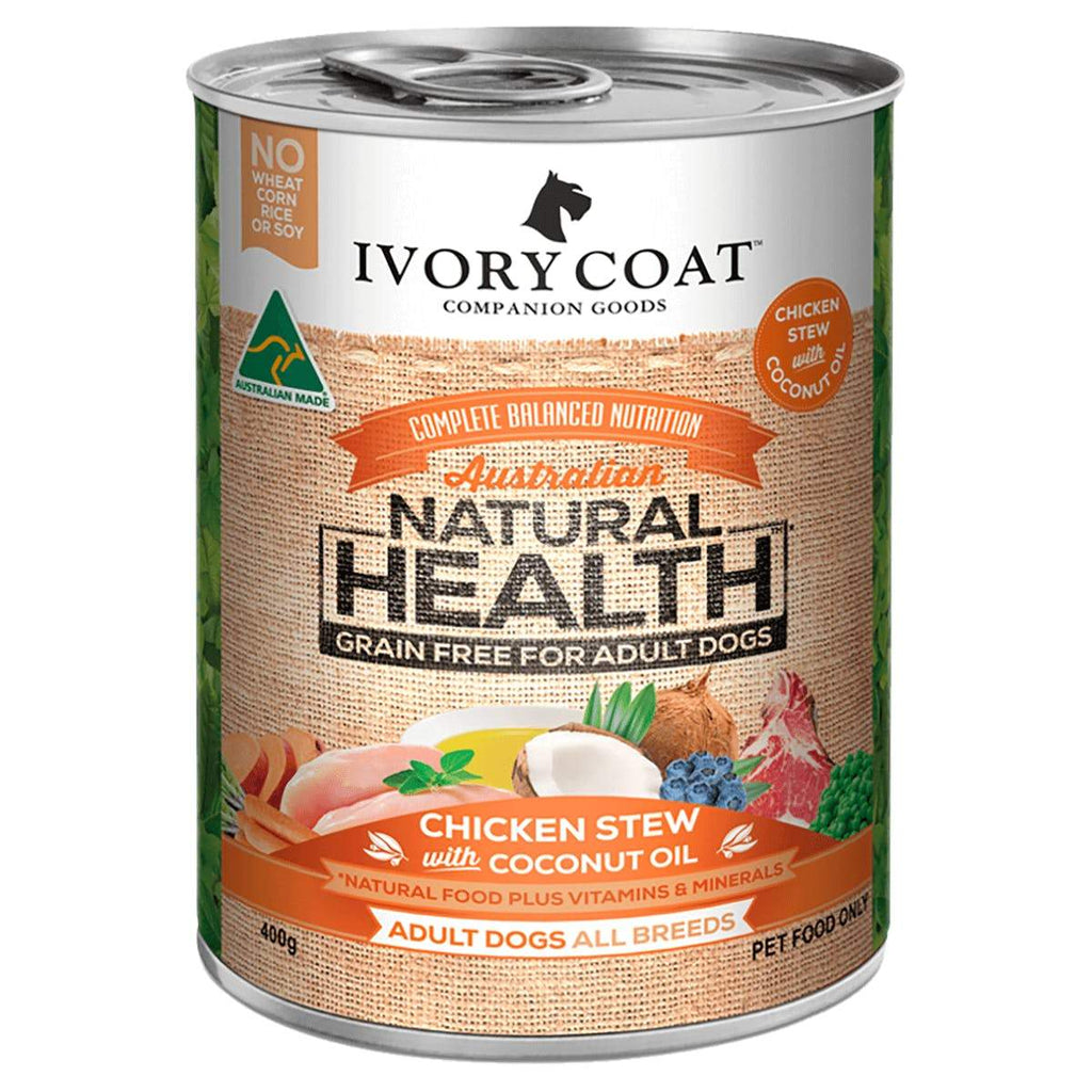 Ivory Coat Grain Free Chicken with Coconut Stew Wet Dog Food 12 x 400g Everyday Pets