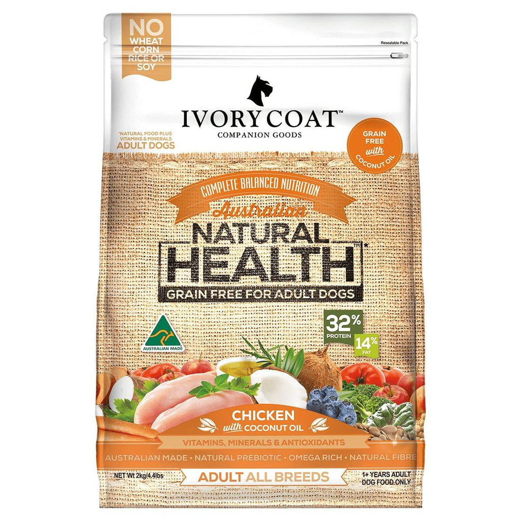 Ivory Coat Adult Dog Food Grain Free Chicken & Coconut Oil 13kg Everyday Pets