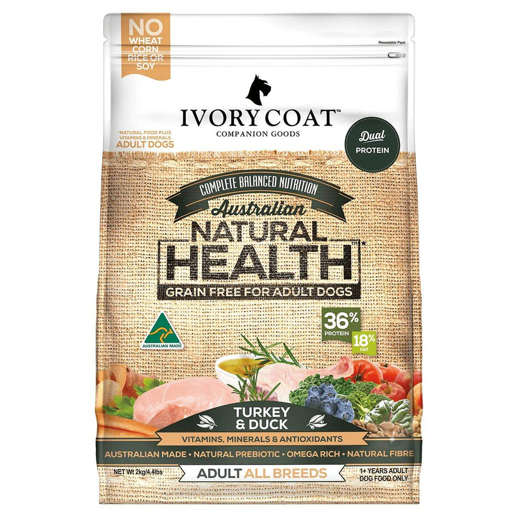 Ivory Coat Adult Dog Food Grain Free Turkey & Duck 13kg Everyday Pets