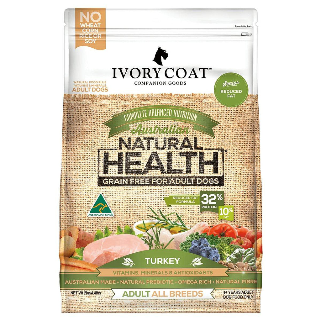Ivory Coat Adult Dog Food Grain Free Reduced Fat / Senior 2kg Everyday Pets