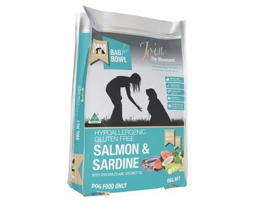 Meals For Mutts Salmon & Sardine Adult Dry Dog Food 9kg Everyday Pets