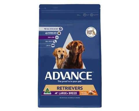 Image of Advance Adult Dog Retriever Large+ Breed Dry Dog Food Chicken & Salmon 7kg Everyday Pets