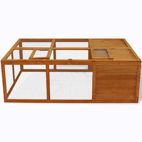 Image of Outdoor Foldable Wooden Animal Cage