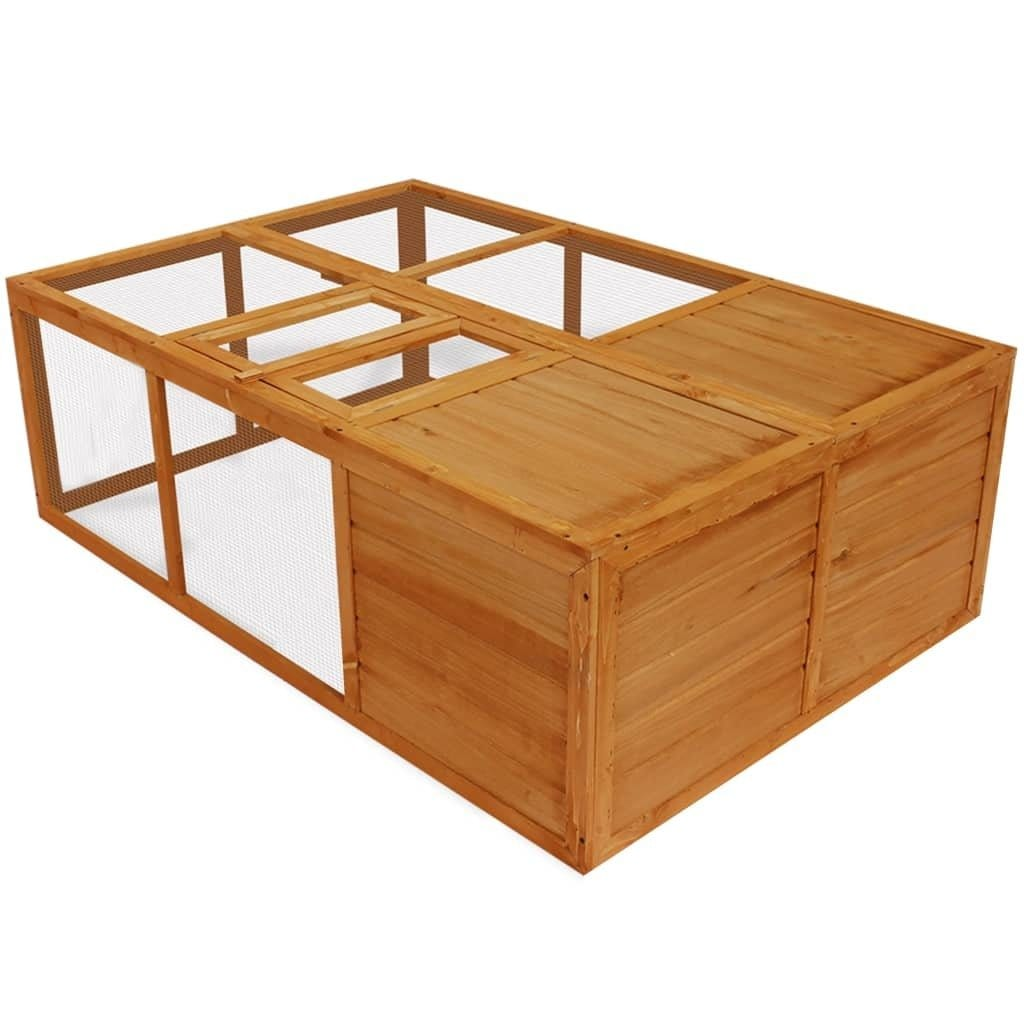 Outdoor Foldable Wooden Animal Cage